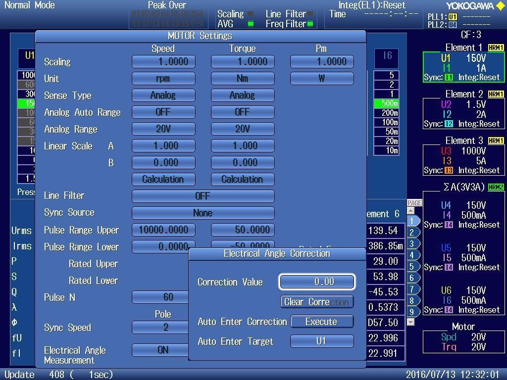 WT1800E Motor Evaluation Function
