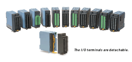 Wide variety of input/output modules