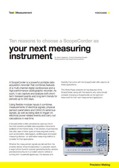 ScopeCorders | Yokogawa Test & Measurement Corporation