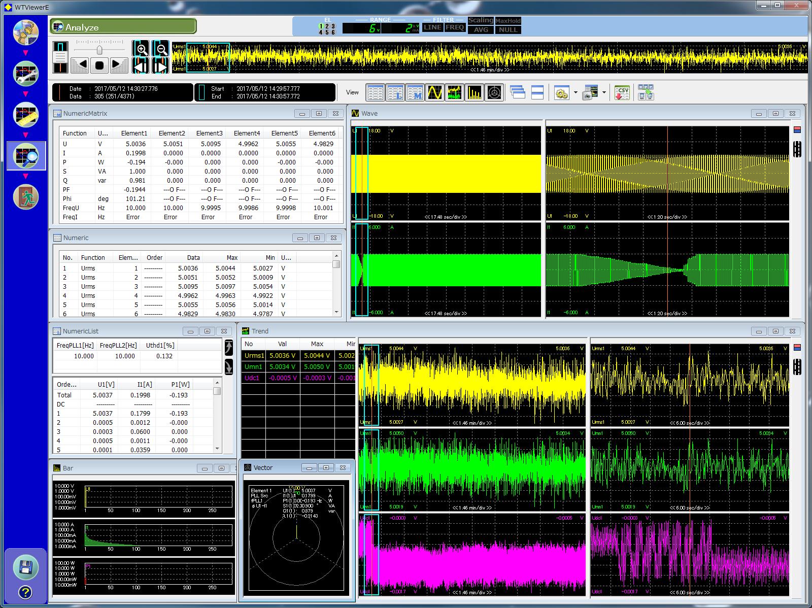 761941 Wtviewere Application Software Yokogawa Test Measurement Wiring Simplified Ebook Analysis Screen Offline