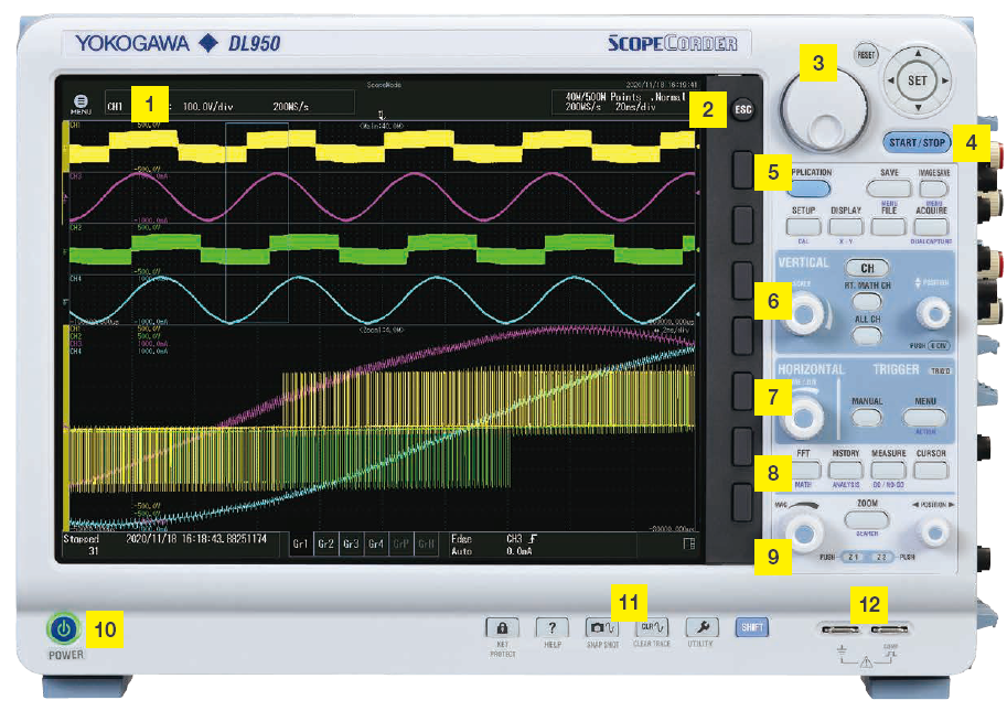 DL950 ScopeCorder Interface | Yokogawa Test&Measurement