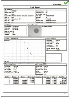 Yokogawa OTDR aq7280 PDR报告