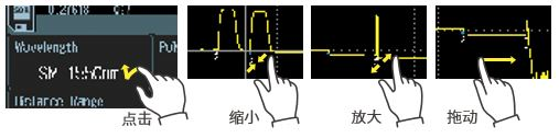 AQ1000 OTDR 多点触控触摸屏