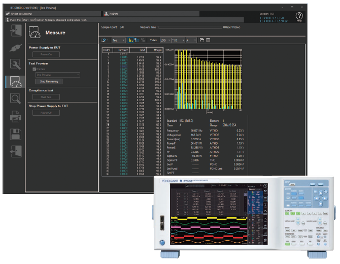 IS8000 Integrated Software IS8011 IS8012 IEC Harmonic Flicker Compliance Analysis | Yokogawa Test&Measurement