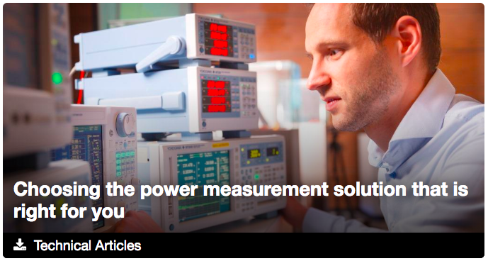Choosing the Right Power Measurement Instrument