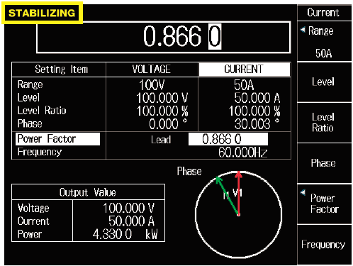 LS3300 Stabilizing Indication