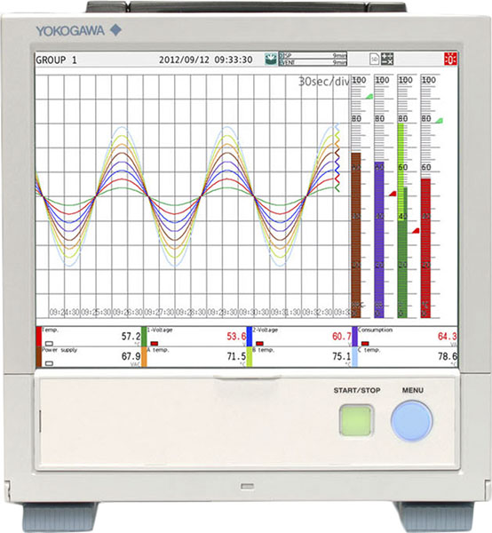 GP10/20 Touchscreen Portable Data Acquisition System | Yokogawa Test