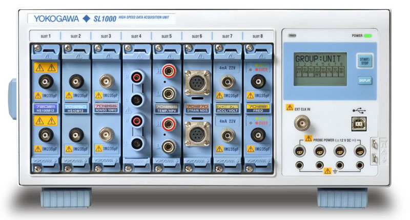 Data Acquisition Transducer Testing Setup : Sl high channel count scopecorder yokogawa test