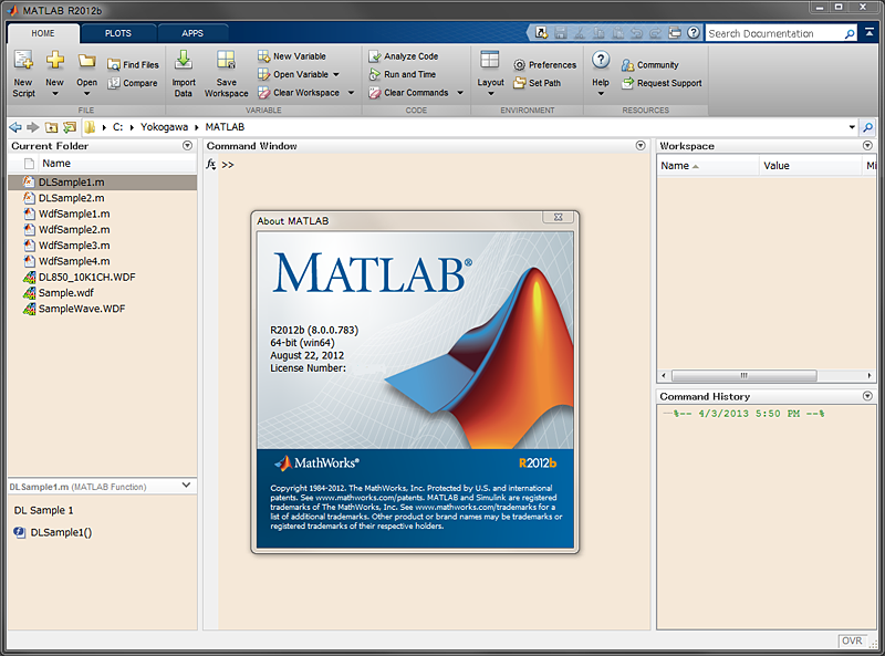 MATLAB tool kit for DL series (701991) | Yokogawa Test